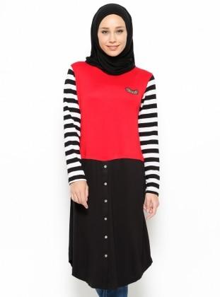 Striped Tunic - Black - Moonlight 209577