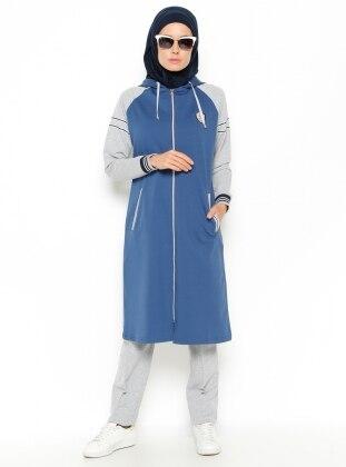 Blue - Gray - Tracksuit Set