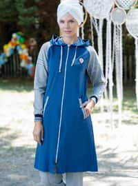 Blue - Gray - Tracksuit Set