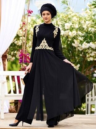 Azize Tulum Abiye Elbise - Siyah Nilüfer Kamacıoğlu