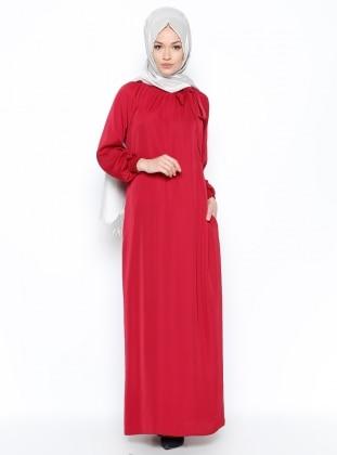 Büzgülü Elbise - Gül ModaNaz