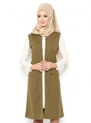 Simple - Full Lined - Khaki - Vests