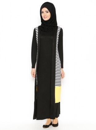 Hırka&Elbise İkili Takım - Sarı
