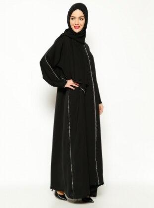 Biyeli Abaya - Siyah