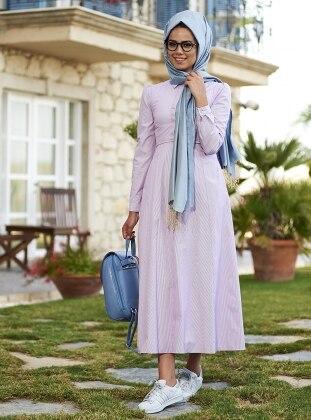 Sıla Cotton Elbise - Mürdüm