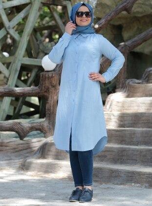 Coton Tunik - Mavi
