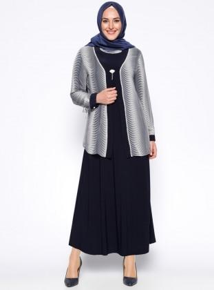 Ceket&Elbise İkili Takım - Lacivert Metex