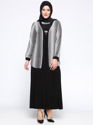 Ceket&Elbise İkili Takım - Siyah Metex