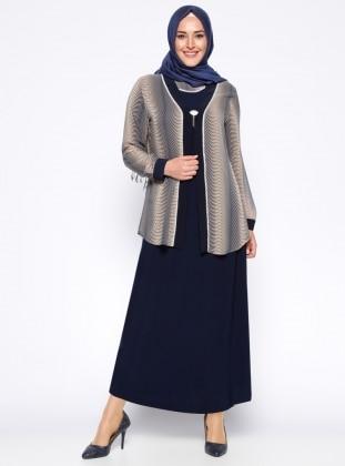 Ceket&Elbise İkili Takım - Vizon