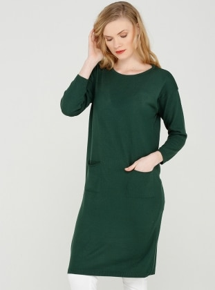 Knitted Tunic - Emerald Green