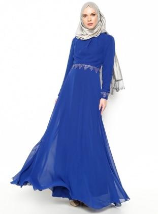 Mileny Güpür Detaylı Abiye Elbise - Saks