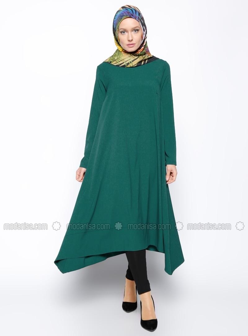 Asymmetric Tunic - Emerald