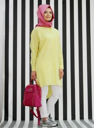 Desenli Tunik - Sarı