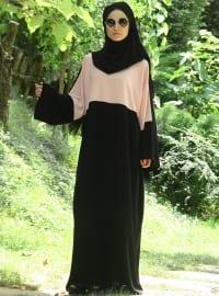 Abaya Medina Tesettür Elbise - Somon