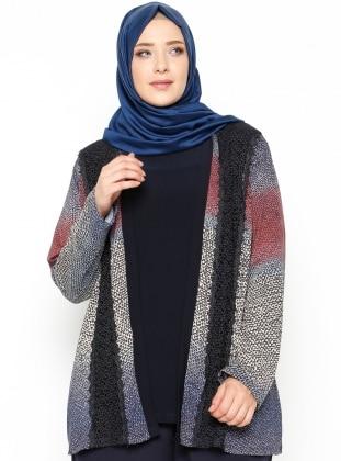 Bluz&Hırka İkili Takım - Lacivert Mor Menekşe