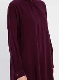 Purple - Button Collar - Tunic