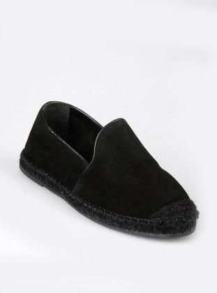 Hakiki Deri Ayakkabı - Siyah - BAMBİ AYAKKABI