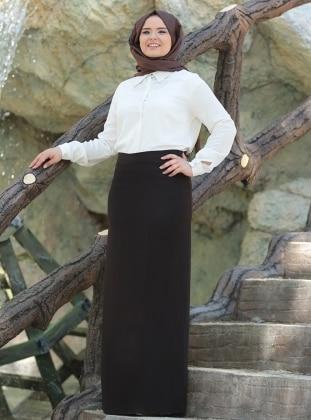 Saliha Kalem Etek - Kahverengi
