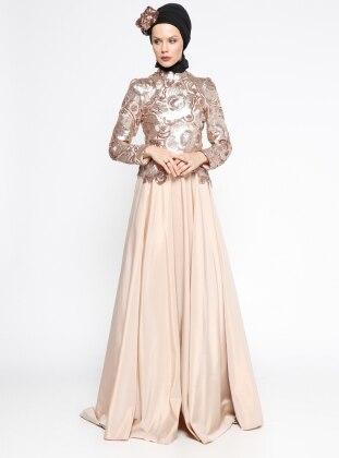 Narin Abiye Elbise - Pudra