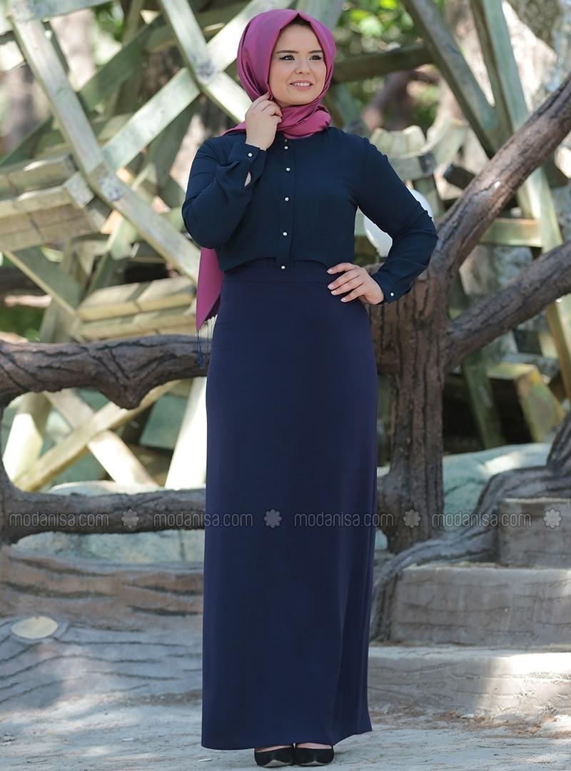 Pencil Skirt - Navy Blue
