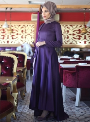 Zümra Abiye Elbise - Mor