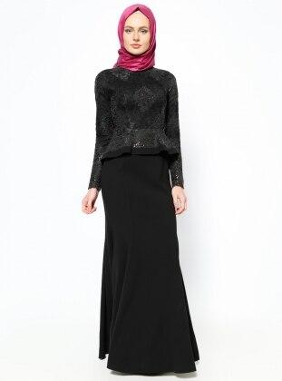 Liva Abiye Elbise - Siyah SAFİYE SULTAN