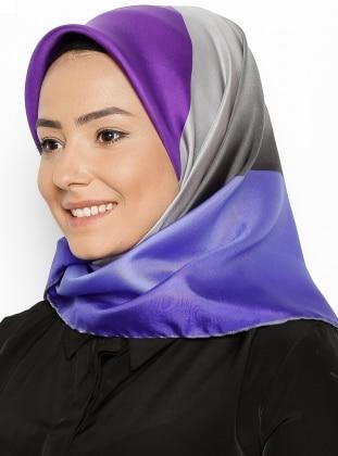 Twill İpek Eşarp - Karışık Renkli