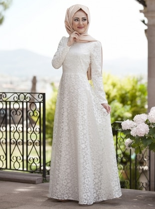 Lale Dress - Ecru - Minel Ask 221635