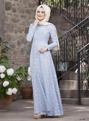 Lale Dress - Blue - Minel Ask 221632