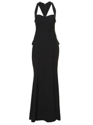 Taş İşlemeli Abiye Elbise - Siyah Mileny
