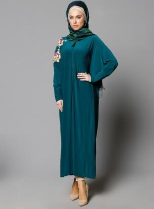 Yarasa Kollu Ferace - Yeşil