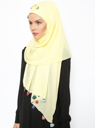 Semi Instant Shawl - Yellow
