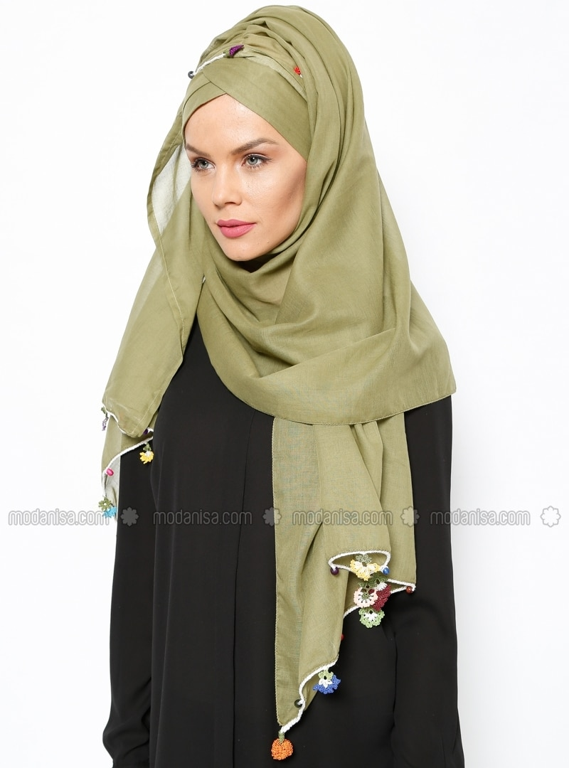 Semi Instant Shawl - Light Green