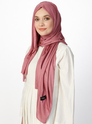 Combed Cotton Jersey Shawl - Rose