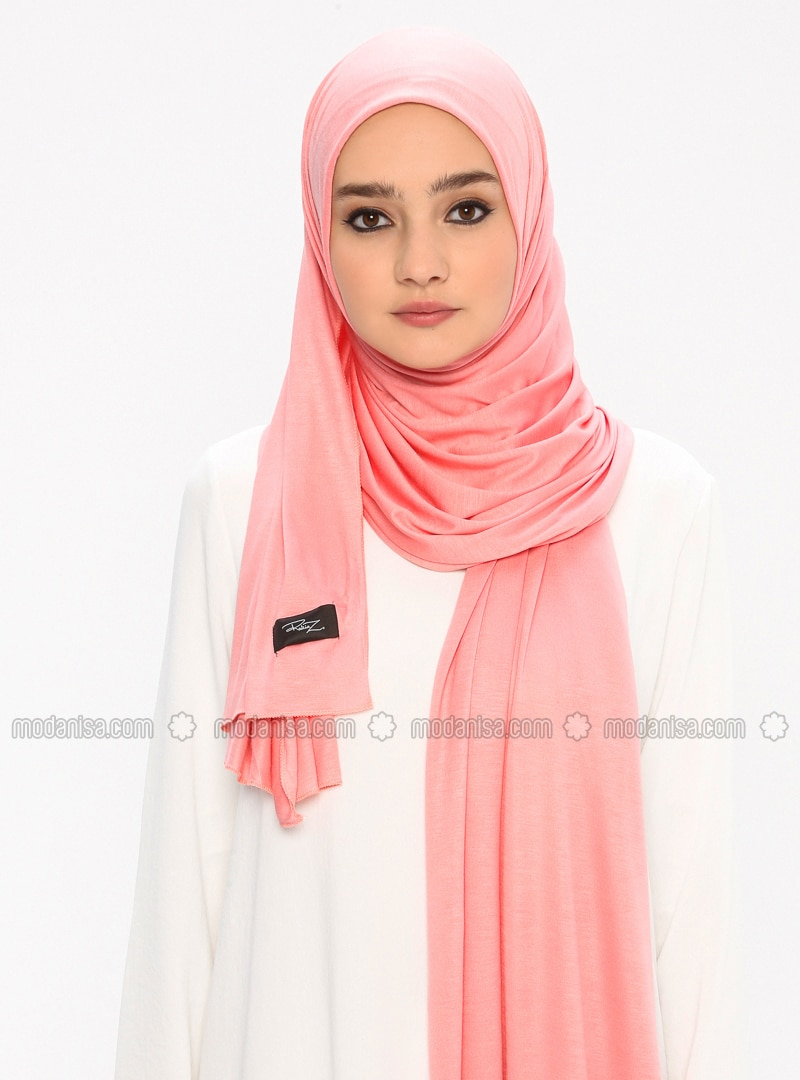 Combed Cotton Jersey Shawl - Onionskin