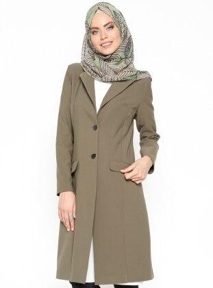 Düğmeli Ceket - Haki Missmira