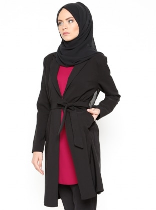 Şal Yaka Ceket - Siyah Missmira