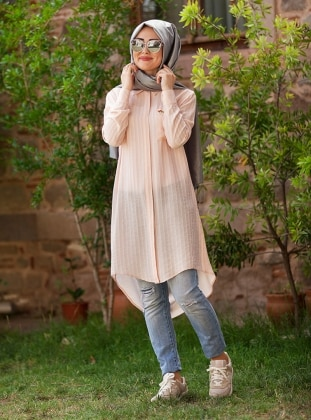 Natural Tunic - Powder - Minel Ask 224261