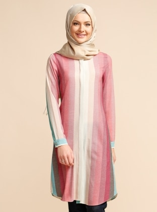 Hidden Button Tunic - Green - Puane 224427