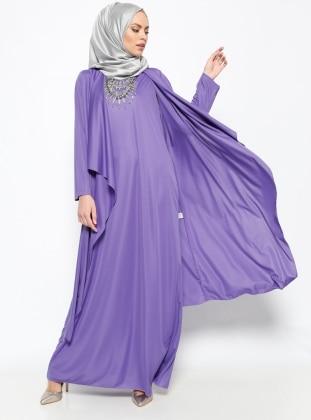 Ayşen Özen Candy Elbise Kap Takım - Mor