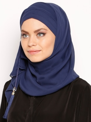 890a47538 أزرق - من لون واحد - شالات عملية - حجابات جاهزة