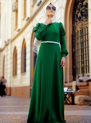Prenses Elbise - Yeşil