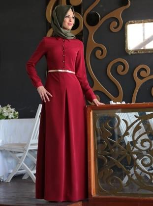 Nurkombin Ünzile Elbise - Bordo