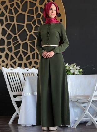 Nurkombin Ünzile Elbise - Haki