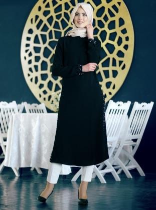 Nurkombin Yüsra Tunik - Siyah