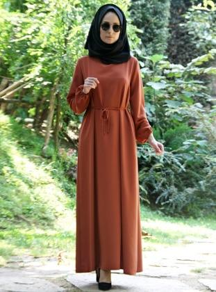 Waistband Dress - Oxblood - Melek Aydin