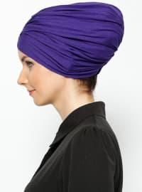 Purple - Cotton - Plain - Instant Scarf