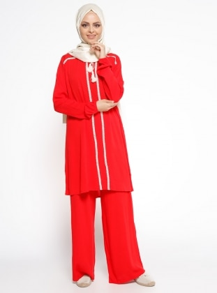 Tunik&Pantolon İkili Takım - Kırmızı