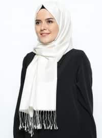 İpek Şal - İnci Beyazı - Mısırlı