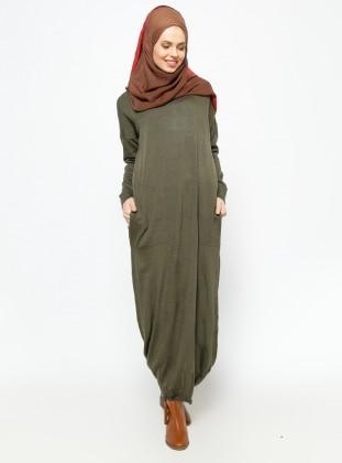 Mevsimlik Elbise - Haki